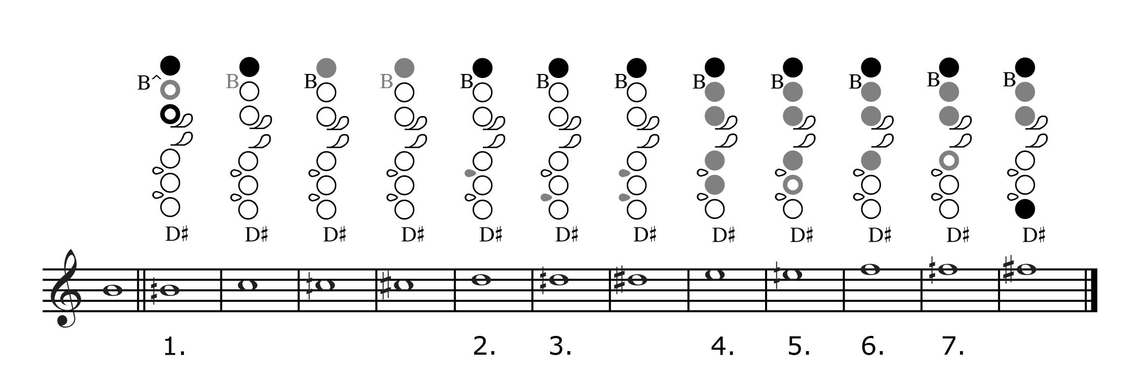 Bass flute Fingering Chart Flute Fingering Chart Amro Music Memphis